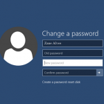 Change your password with Windows 10